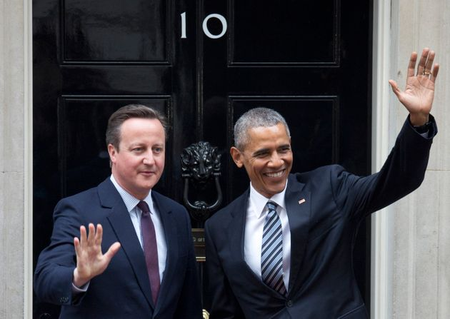 David Cameron and Barack Obama outside No.10 in