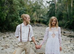 Couple's 'Organic' Wedding Takes DIY To A Whole New Level