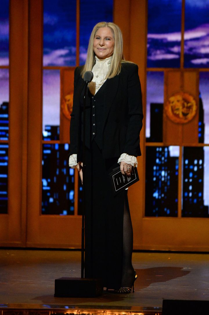 """""""Thank god I picked the right outfit,"""" Streisand said of her """"Hamilton""""-inspired look."""