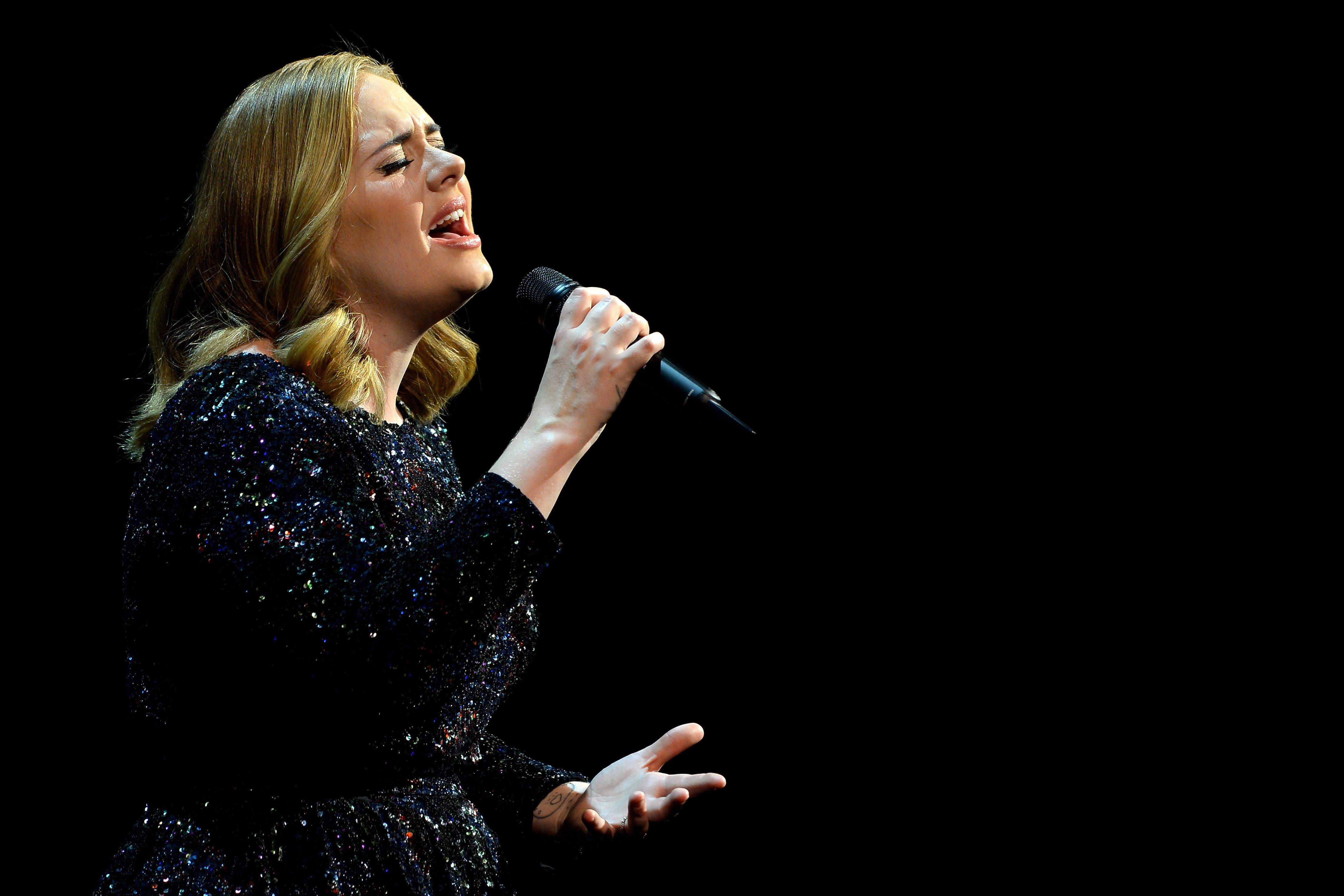Adele performs at SportPaleis on June 12, 2016, in Antwerp,