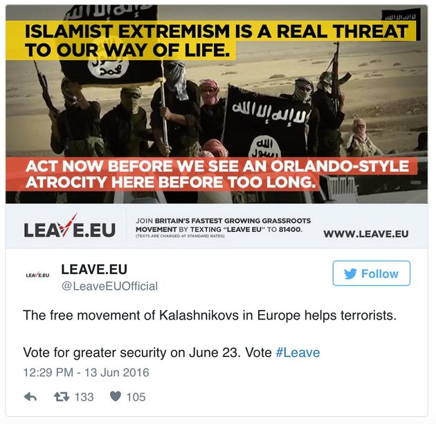 Orlando Shooting Used By Brexit Campaign In 'Shameful'