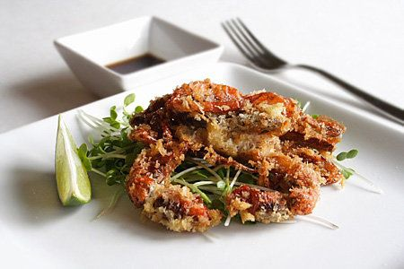 Soft shell crab – no we don't soak it in vinegar to make it go ...