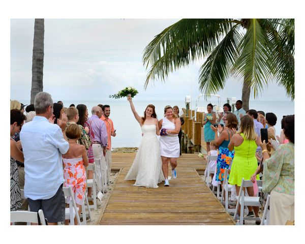 """""""Beautiful Islamorada wedding!The two brides Lexi and Michelle could not be happier and spent the evening with family a"""