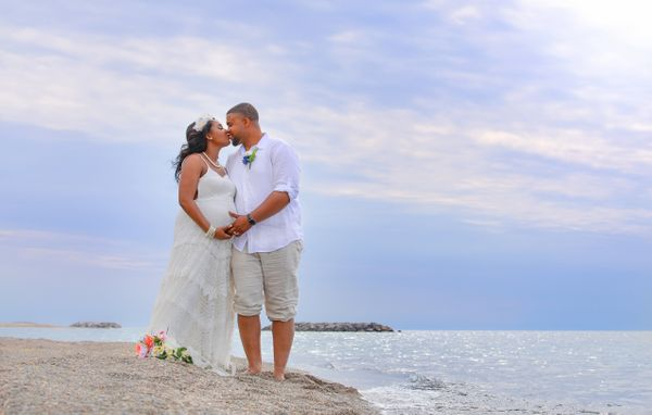 """""""The bride and groom couldn't be any happier! Congratulations, Ty and Shawree!"""" --<i>Sonia Neu</i>"""