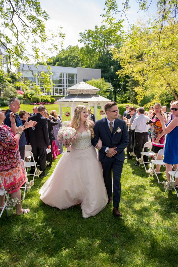 """""""Jade and James take their walk down the aisle as husband and wife at Civic Gardens in London, Ontario!"""" --<i>Sandra Mc"""