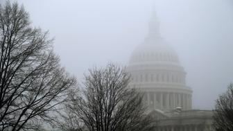 Morning mist covers the U.S. Capitol dome in Washington, January 15, 2014.  REUTERS/Jonathan Ernst    (UNITED STATES - Tags: POLITICS ENVIRONMENT)