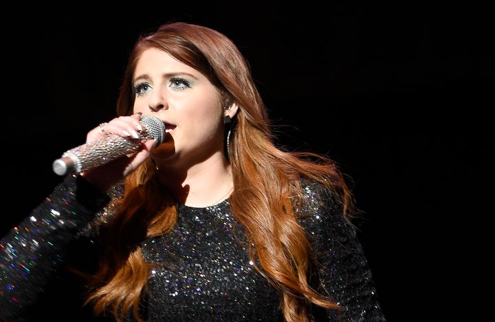 Meghan Trainor performs on stage at the 106.1 WBLI Summer Jam at Nikon at Jones Beach Theater on June 11, 2016 in Wantagh, Ne