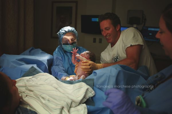 """This dad is a firefighter and paramedic. Part of the couple's deal was that if they were going to have a third baby, he"