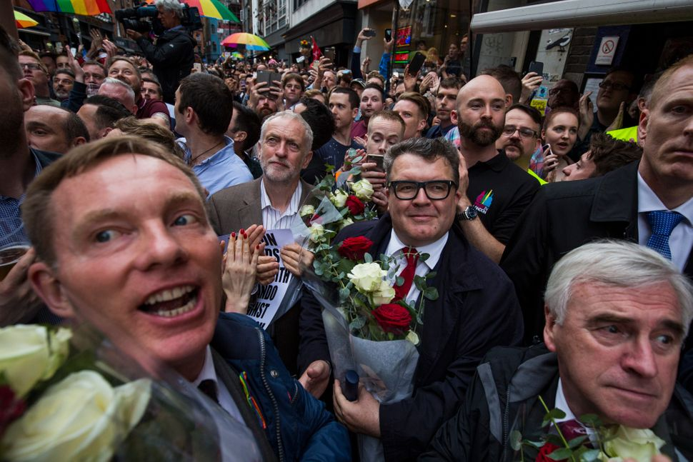 Labour politician Chris Bryant, Labour leader Jeremy Corbyn, deputy Labour leader Tom Watson and shadow Chancellor John McDon