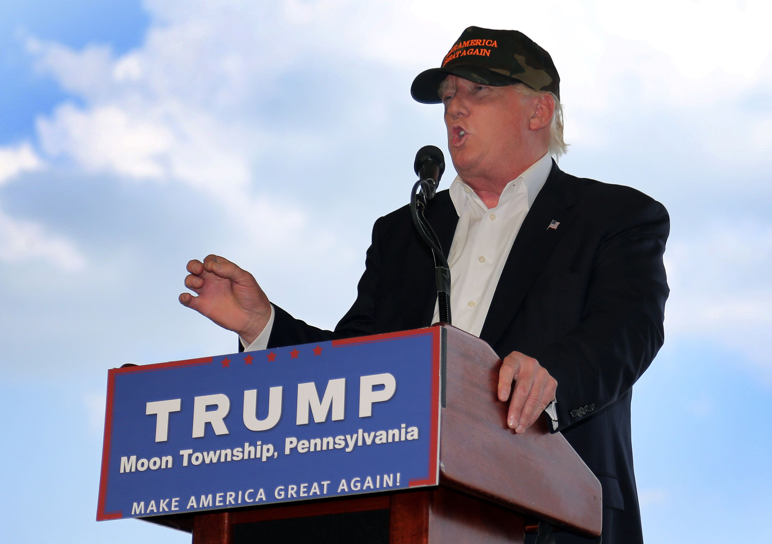 Donald Trump, the presumptive GOP presidential nominee, argued Monday that he would defend the LGBT community.