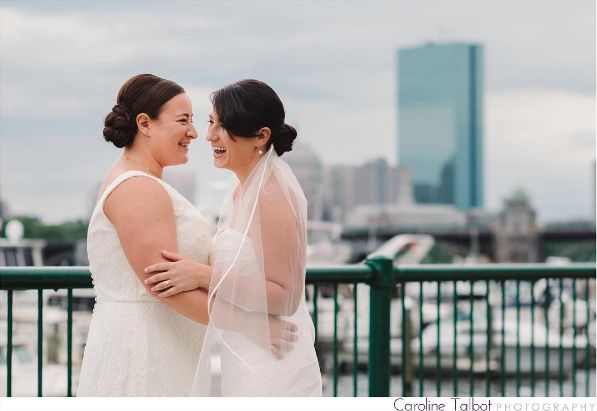 """""""Tracy and Ashley tied the knot today, and it was a celebration filled with love and insane amounts of laughter. This one was"""