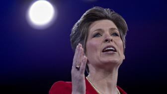 Senator Joni Ernst, a Republican from Iowa, speaks during the American Conservative Unions Conservative Political Action Conference (CPAC) meeting in National Harbor, Maryland, U.S., on Thursday, March 3, 2016. CPAC runs until March 5 with the five remaining 2016 Republican presidential candidates speaking. Photographer: Andrew Harrer/Bloomberg via Getty Images