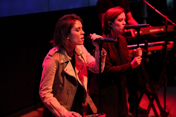 Tegan and Sara kick off Samsung 837's Live NYC Concert Series on June 9 in New York City.