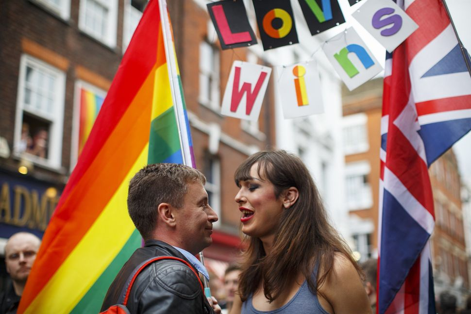 Mourners champion love over hateoutside the Admiral Duncan pub on Old Compton Street.