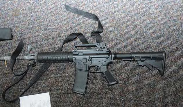 The Bushmaster AR-style rifle used to carry out the 2012 rampage at Sandy Hook Elementary School...