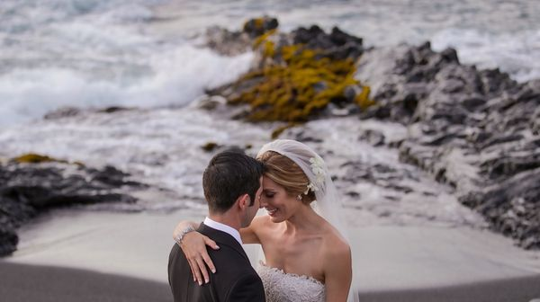 """""""Victoria and Todd married in a stunning, beach-side ceremony in Hawaii this weekend. They brought everyone to tears with the"""