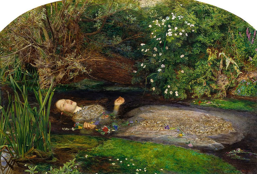 "John Everett Millais's 1851 painting ""Ophelia."""