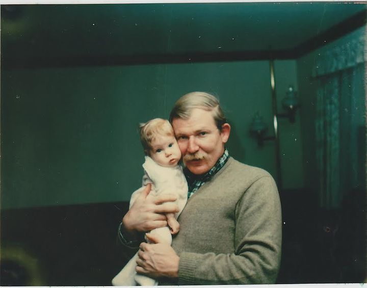 Contributor Amalie Jahn with her Father, circa 1970's