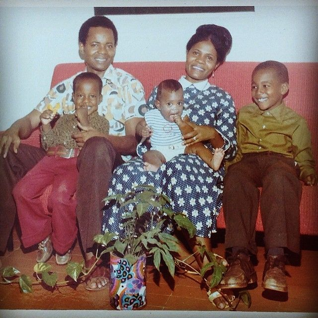 Paul Family in Abijan, Cote d'Ivoire, circa 1975