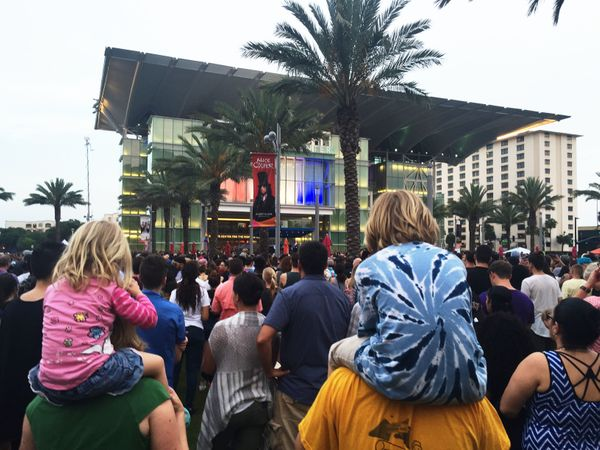 Thousands converged at the Dr. Phillips Center for the Performing Arts in Orlando to remember those lost in the mass shooting