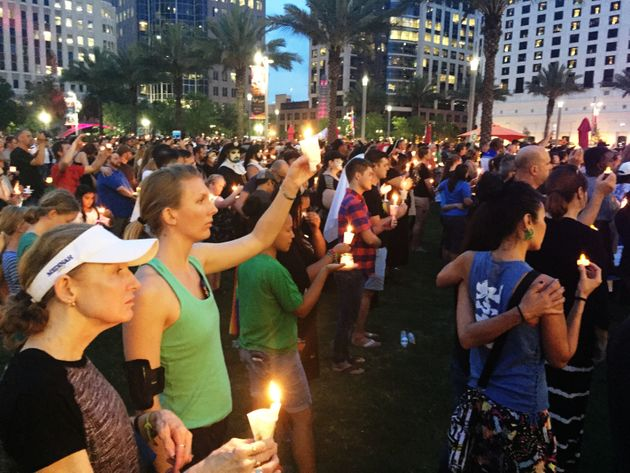 Thousands Attend Orlando Vigil To Prove That Love Wins