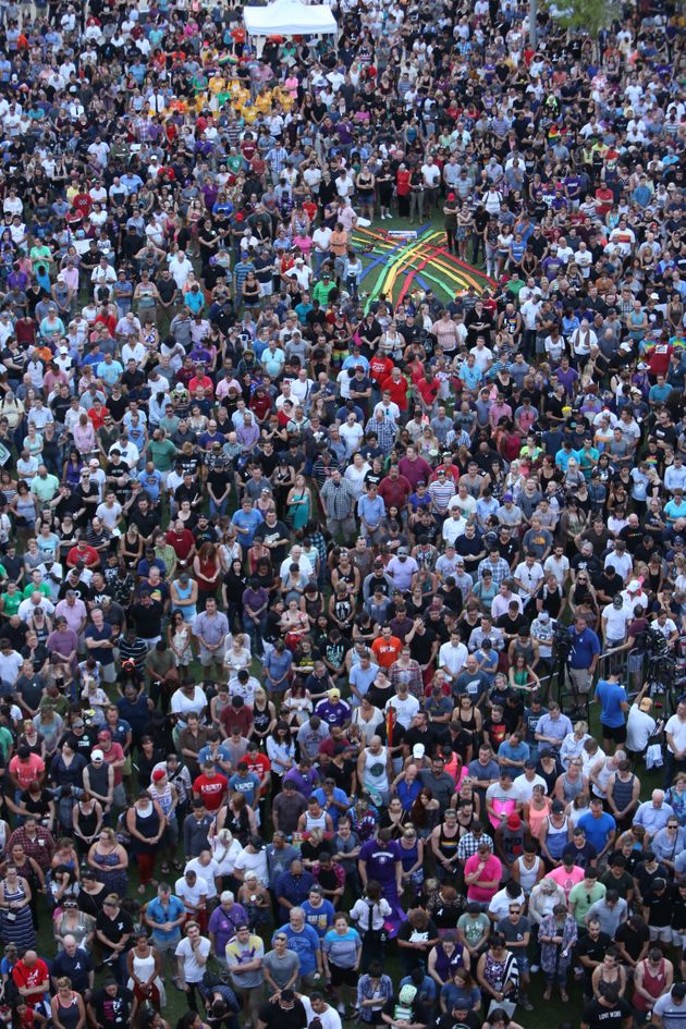 Thousands Attend Orlando Vigil To Prove That Love