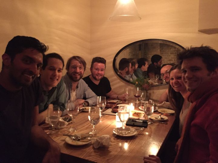 "<a rel=""nofollow"" href=""https://www.agoraforgood.com/pages/team/"" target=""_blank"">Team Agora</a>, enjoying a meal"