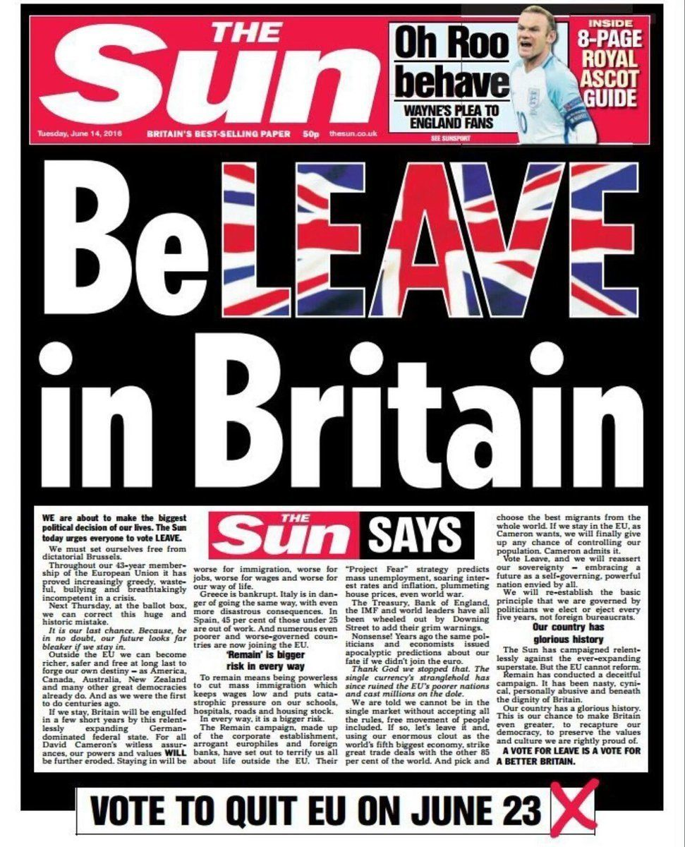 The Sun front page June 14,