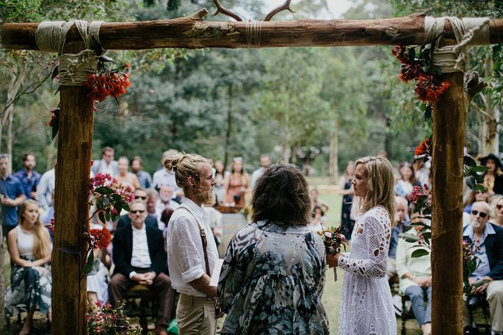 The couple practically made everything in preparation for their big day.
