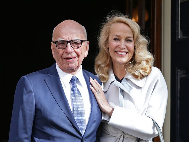 Rupert Murdoch (pictured with wife Jerry Hall) did not decide The Sun's Brexit stance, a senior editor...