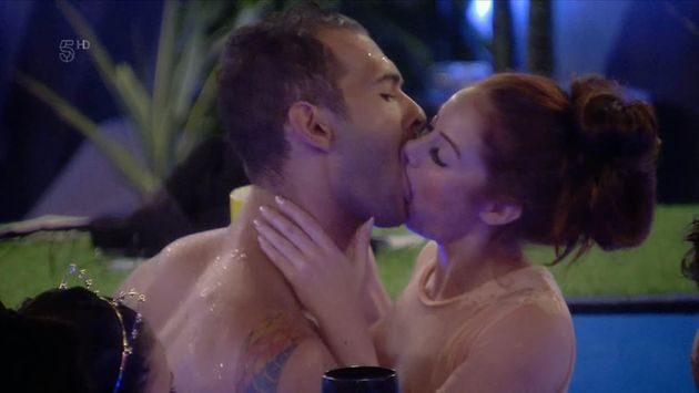 Laura shared a snog with Andrew in the hot