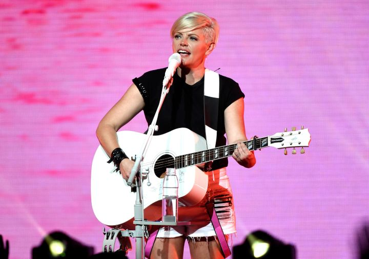Natalie Maines of the Dixie Chicks performs onstage in Cincinnati, Ohio.