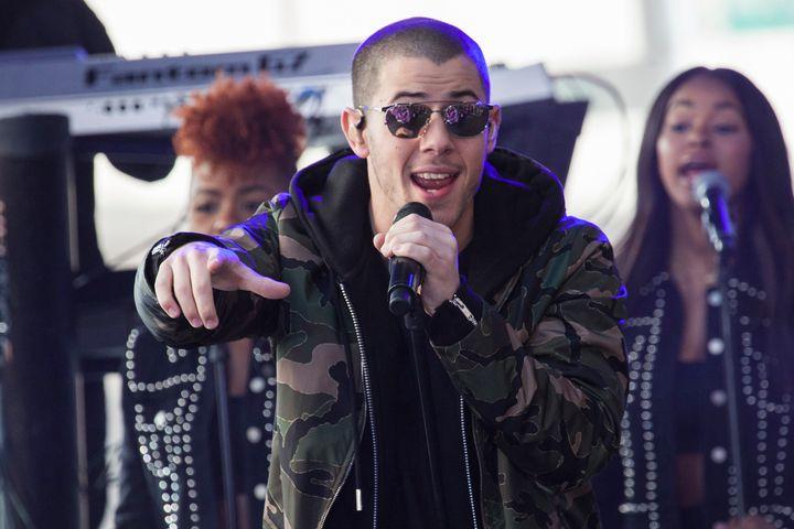 Nick Jonas performs.