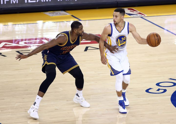 Curry has not been able to take advantage of Cleveland switching big man Tristan Thompson onto him, even from the perimeter.