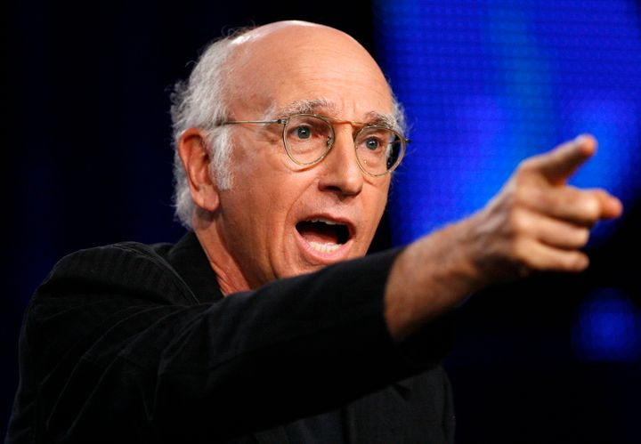 "Larry David at a panel discussion for ""Curb Your Enthusiasm"" in 2009."