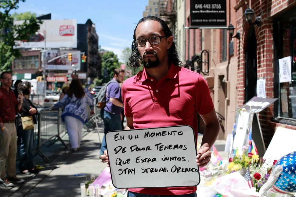 "Colombian-American José L. Orozco wrote: ""In a moment of pain, we have to stay together. Stay strong, Orlando."""