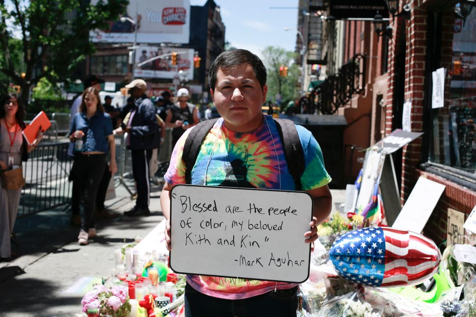 "Ecuadorian Aiden Mora, who is openly trans, cited the poem, ""Litanies to My Heavenly Brown Body"" by Mark Aguhar."
