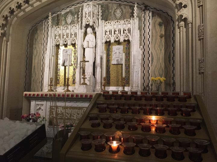 Candles for St. Theresa.