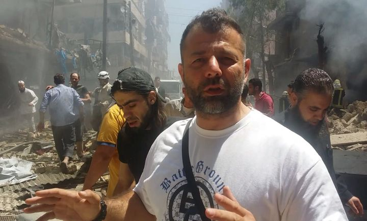 Rami Adham, seen here in Aleppo, makes a point to visit Syria during Ramadan.