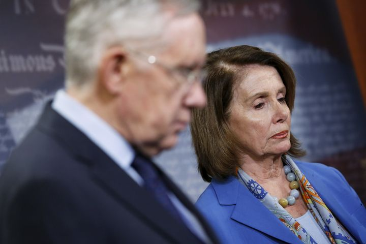 """House Minority Leader Nancy Pelosi said in a release Tuesday that""""Republicans' decision to block the bipart"""