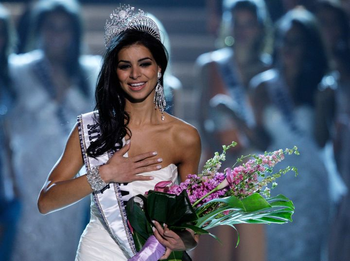 Rima Fakih iscrowned Miss USA during the 2010 pageant in Las Vegas.