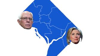 Latest results from Washington D.C. presidential primary.