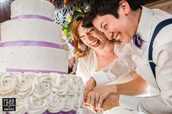 """""""Even in traditional shots, like the cake cutting, fearless photographers find fodder for creative fun and excellent imaging."""