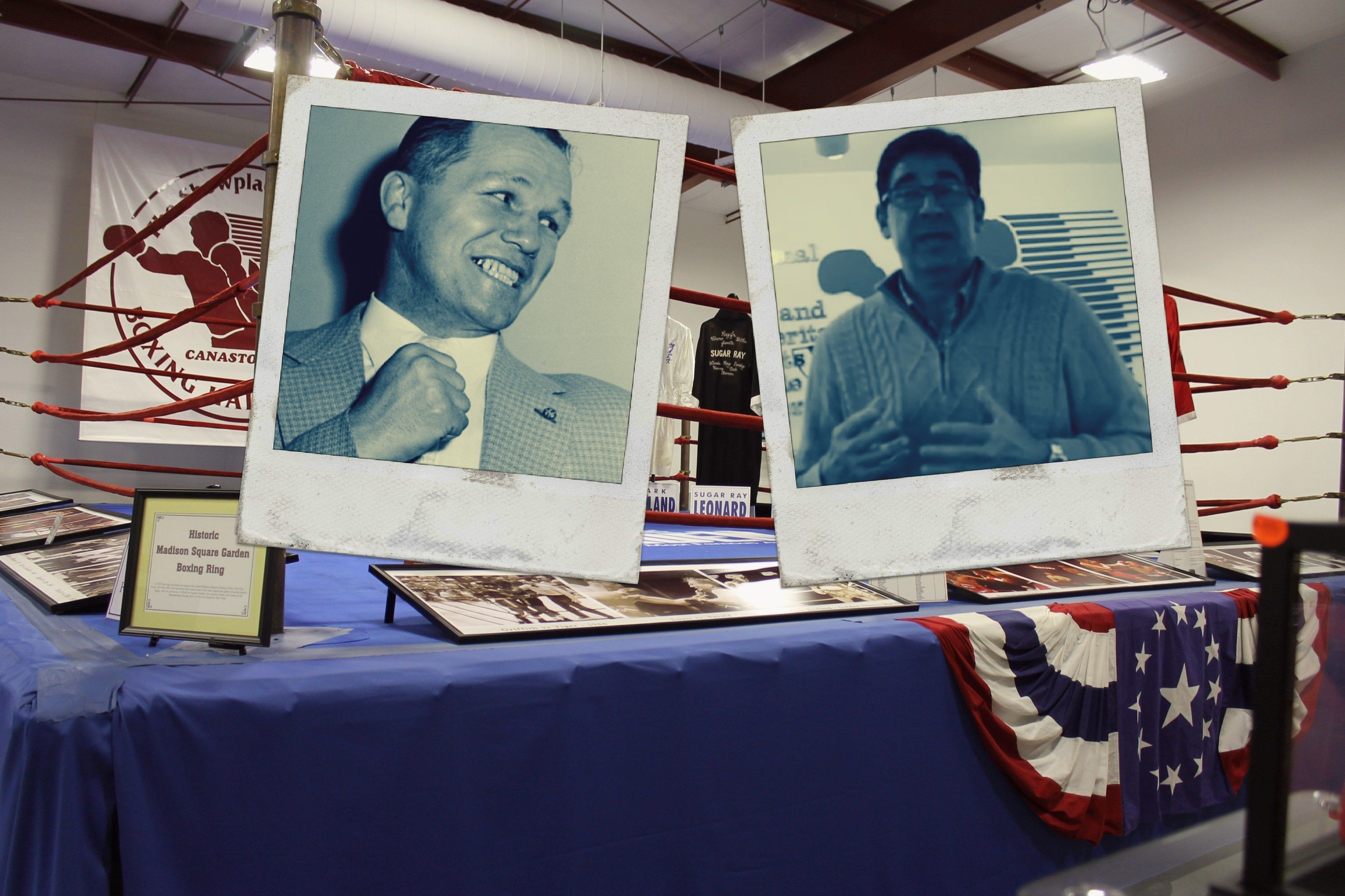 The family of boxer Tony Zale, left, says International Boxing Hall of Fame Director Edward Brophy, right, has failed to perf
