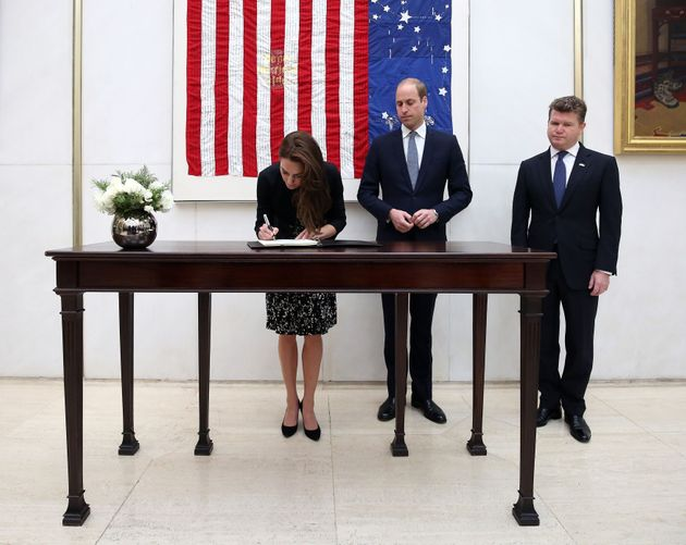 The Duke and Duchess of Cambridge sign a book of condolence for Orlando shooting