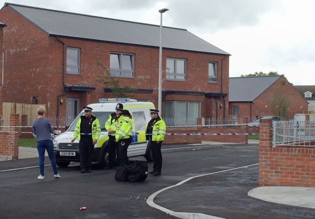 Police in Maes y Bwlch, Llanelli, where a man died following an incident involving a Taser on Tuesday