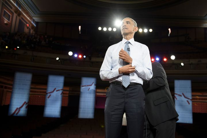 At a town hall in Indiana this month, President Barack Obama blamed the NRA for blocking efforts to prevent individuals on so