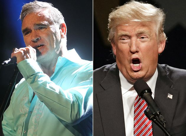Not happy... Morrissey has blasted Trump as