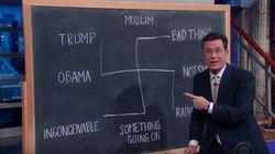 Colbert Uses Chilling Symbol To Explain Trump's Orlando