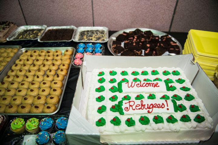 Volunteers threw a welcome event for the newly-resettled Syrians in New Jersey in December.